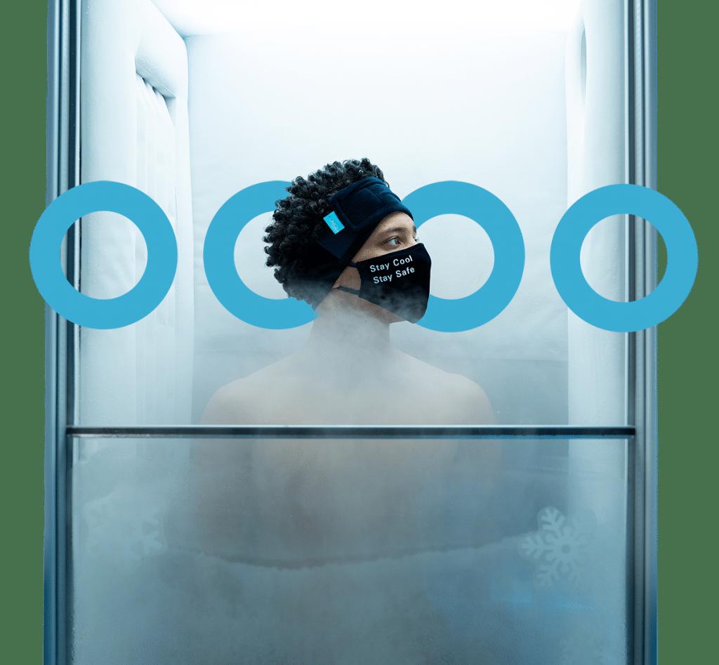 Man in cryo chamber